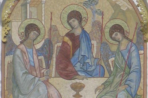 Мозаичная икона Святой Троицы