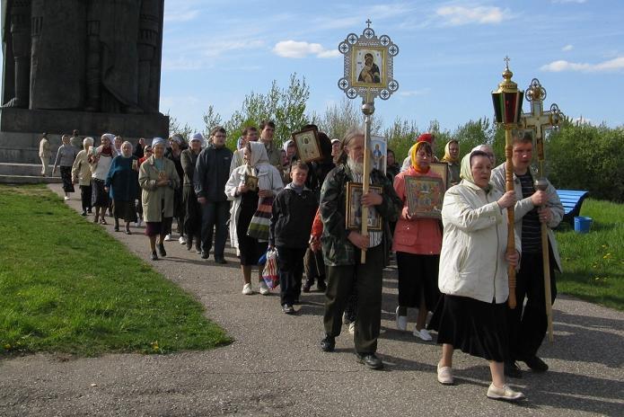 В Пскове совершен городской Крестный ход