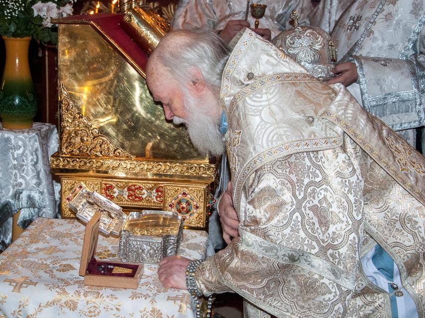 На Псковскую землю принесены частицы святых мощей с горы Афон