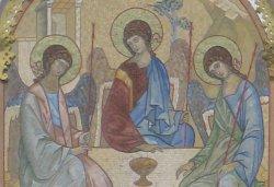 Фрагмент мозаичной иконы Е.Е. Климова «Троица»