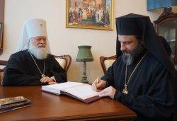 Глава Охридской Архиепископии Сербской Православной Церкви архиепископ Охридский и митрополит Скопийский Иоанн (Вранишковский) посетил Елеазаровский монастырь, 8 марта 2015 года
