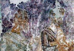 Рис. 31. Евхаристия. Фрагмент фрески из храма Покрова Богородицы в Довмонтовом городе г.Псков