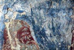 Рис. 37. Голова старика из композиции Святой воин. Фрагмент фрески из храма Покрова Богородицы в Довмонтовом городе г.Псков