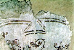 Рис. 39. Плат (под молодым святым). Фрагмент фрески из храма Покрова Богородицы в Довмонтовом городе г.Псков