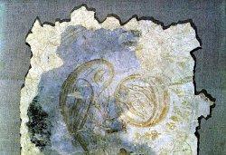 Рис. 41. Неясыть. Фрагмент фрески из храма Покрова Богородицы в Довмонтовом городе г.Псков