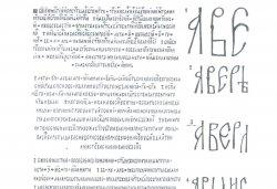 Рис. 3. Надписи на Троицких колоколах и примеры начертания букв