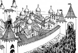 Довмонтов город и старый Торг. Реконструкция Г.Я. Мокеева
