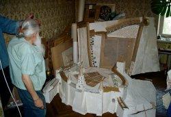 Макет Псковского кремля в однокомнатной квартире Николая Тимофеева, г.Санкт-петербург. Фото Егора Робенко
