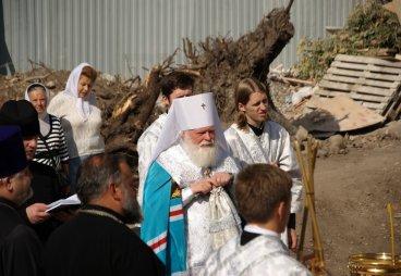 Чин освящения крестов храма преподобного Сергия Радонежского с Залужья, 25 августа 2015 года