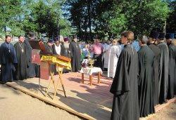 Освящение куполов и колоколов храма в Крестах 4 июля 2012 года
