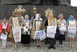 Крестный ход вокруг Пскова 16 июля 2012 года