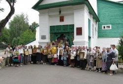Крестный ход вокруг Пскова 16 августа 2012 года