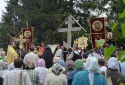 Крестный ход с иконой Спаса Елеазаровского на Талабские острова 12 июля 2012 года