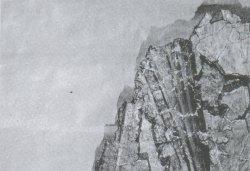 Рис. 1. Неизвестный первосвященник из композиции Скиния Завета. Роспись западной стены церкви Рождества Христова в Довмонтовом городе. Конец XIV в. Фрагмент. ГЭ