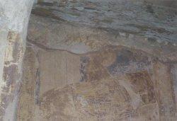 Рис. 17. Чудо об Аите-скоморохе. Роспись западного рукава креста церкви Успения в Мелётовою 1463 г.