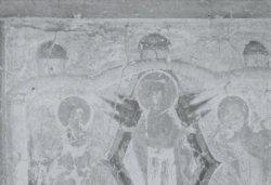Рис. 18. Видение Евстафия. Роспись западного рукава креста церкви Успения в Мелётове