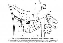Рис. 1. Расположение храма №3 в северной части Довмонтова города
