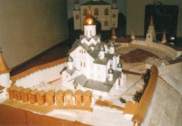 Рис. 3. Макет Псковского кремля Н. А. Тимофеева. 2004 г. Фото из архива А. Г. Дерягина